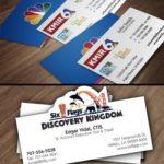 KMIR and Six Flags Business Card Design