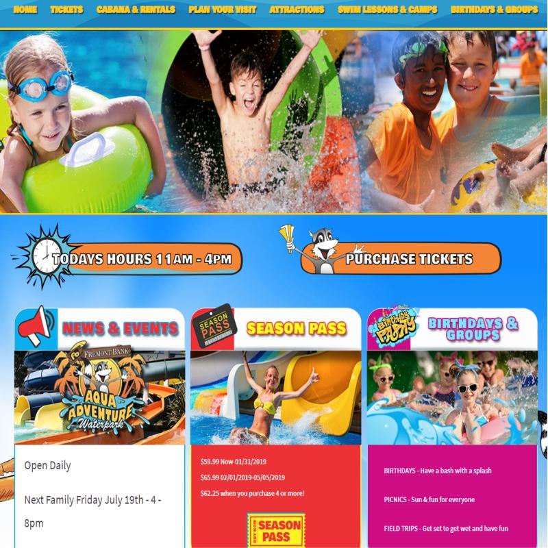 Aqua Adventure Web Design