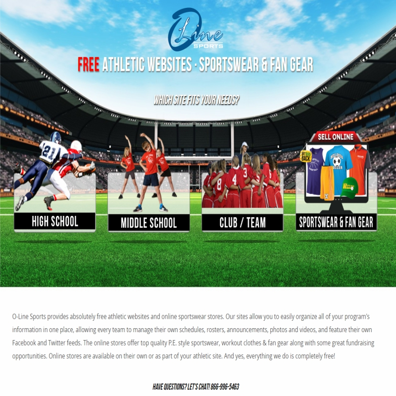 O Line Sports Web Design